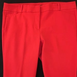 Loft red pants (Marissa skinny)